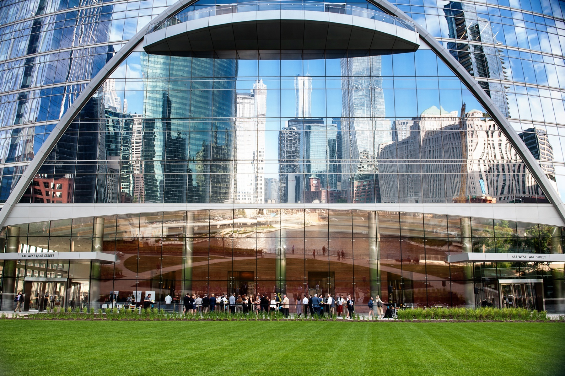 WiredScore's Chicago Launch | The event took place on the plaza of Hines' River Point (444 W Lake)