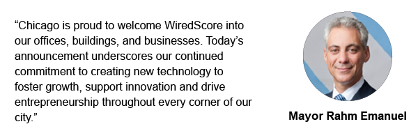 Chicago Mayor Rahm Emanuel supports WiredScore's expansion into the city.